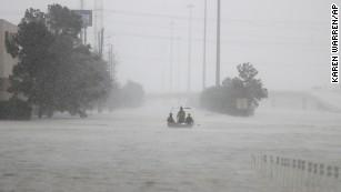 Torrential downpour submerges parts of Houston
