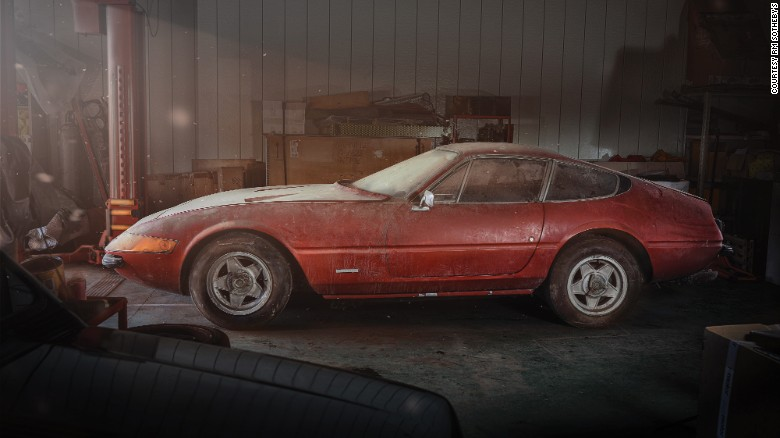 A 1969, ultra-rare Ferrari Daytona will be sold at auction after sitting in a barn in Japan for 40 years.