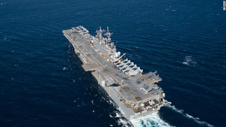 Image result for USS Kearsarge, near puerto rico, photos