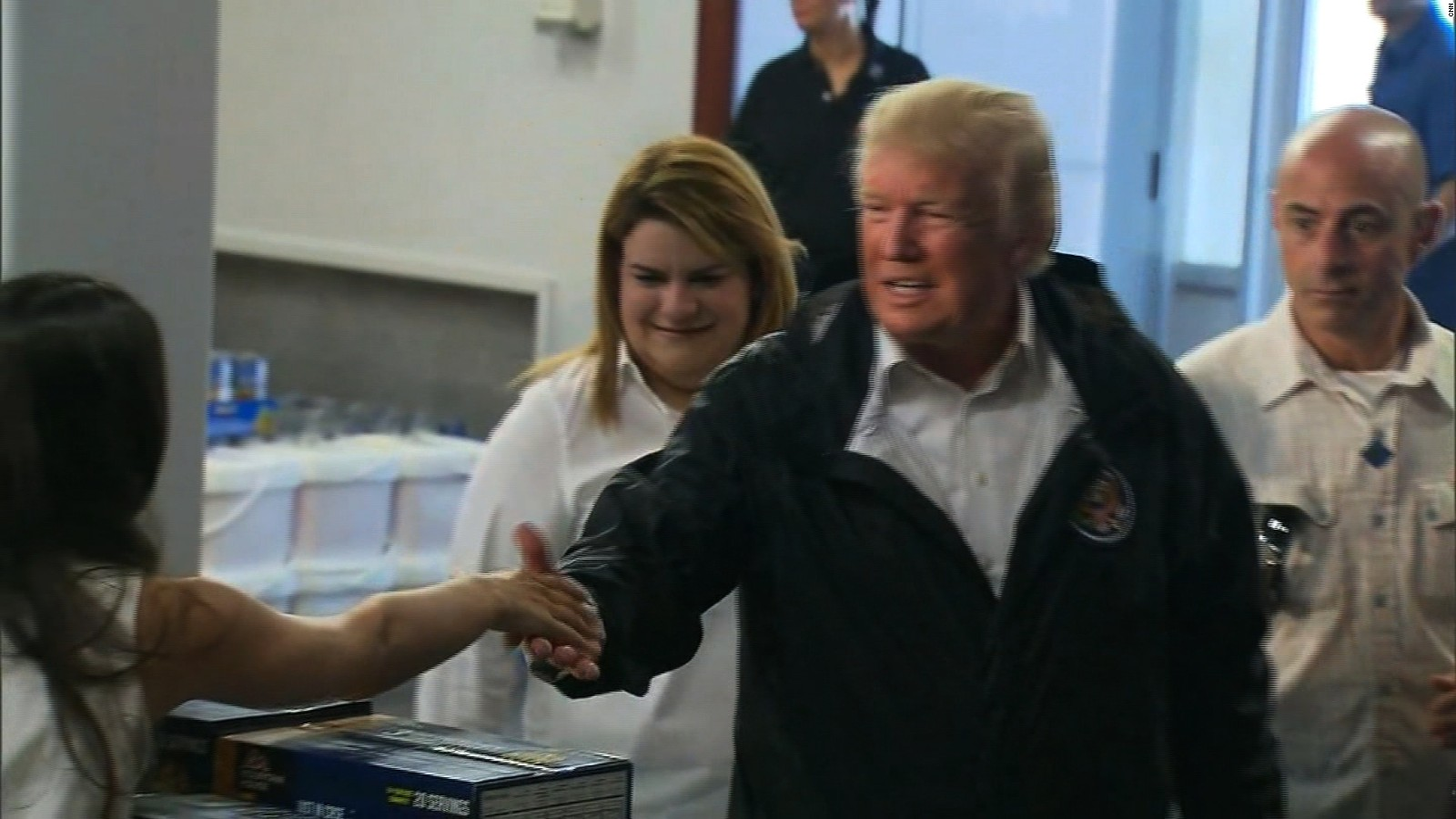 Image result for photos of president trump in Puerto rico