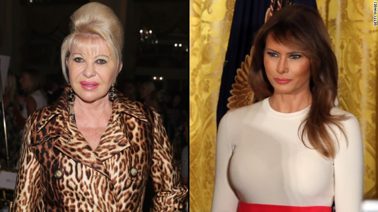 Image result for Melania Trump responds to Ivana Trump calling herself 'first lady'