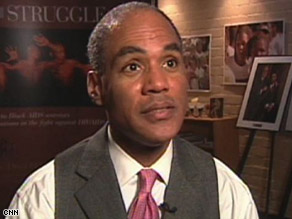 """""""AIDS in America today is a black disease,"""" says Phill Wilson, founder of the Black AIDS institute."""