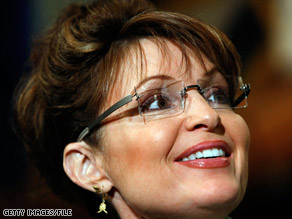 Alaska Gov. Sarah Palin, here in February, will be Sen. John McCain's running mate, a campaign official says.