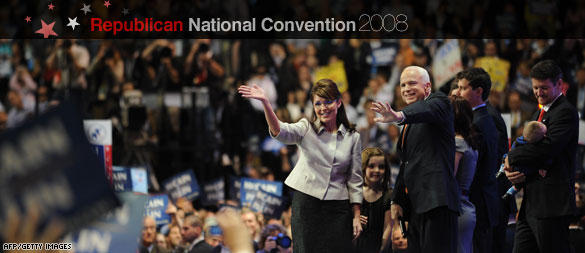 The Republican Ticket, John McCain and Sarah Palin (CNN)