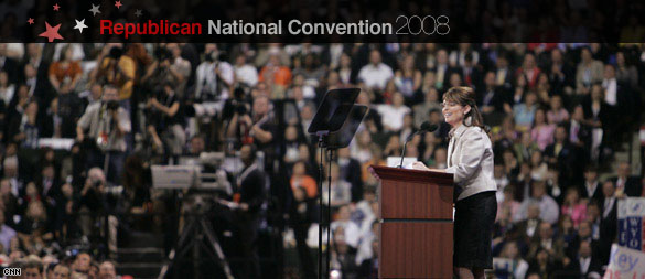 Sarah Palin accepting the Republican Partys nomination for Vice President (CNN)