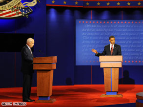 McCain and Obama in first debate