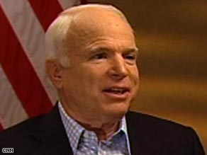 Sen. John McCain says he will consider a second economic stimulus package if he is elected president.