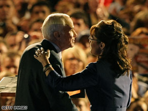 Sources close to John McCain say Sarah Palin was denied a chance to speak at McCain's concession address.