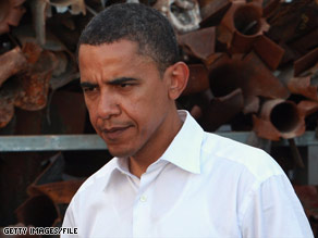 Barack Obama reiterated his support for Israel when he visited Sderot in July.