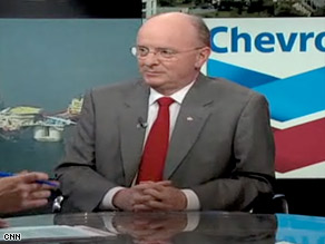 Chevron Corp. CEO David O'Reilly says world demand for crude oil has been growing, which is affecting gas prices.