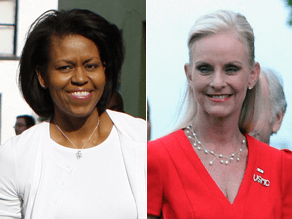 A new CNN poll measures voters' attitudes toward Micelle Obama and Cindy McCain.