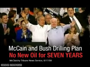 New Obama ad hits McCain on energy.