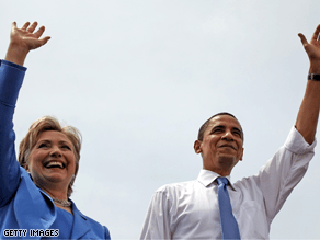 The LA Times reports Obama says he is considering Clinton for the No. 2 spot.