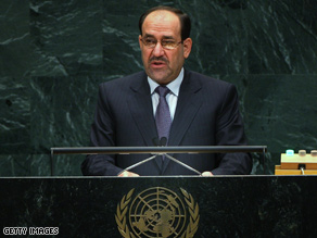 al-Maliki praised Obama's 16-month withdrawal plan in a newspaper report Saturday.