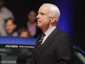 McCain campaigned in Pennsylvania Wednesday.'