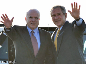 No word yet on whether Bush will appear with McCain at RNC.