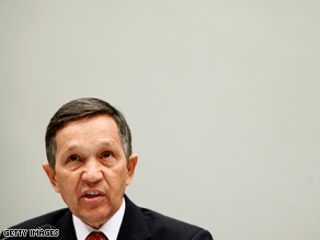 Kucinich is pushing for the impeachment of President Bush.