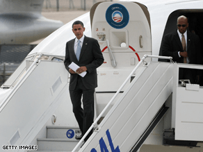 Obama canceled a trip to a U.S. military hospital in Germany.