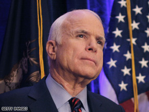 McCain said Lieberman and Graham will be leaving 'as soon as possible.'