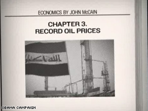 New Obama ad says McCain's Iraq policies contributed to economic woes.