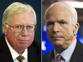 McCain isn't commenting on Corsi's new book.