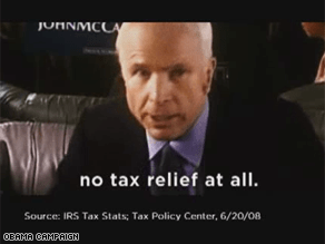 A new Obama ad targets McCain on taxes.