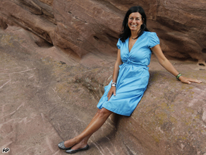 Environmental activist and producer Laurie David before Green Sunday at the Red Rocks Democratic National Convention welcome concert.