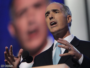 Sen. Robert Casey Jr. D-Pa., speaks at the Democratic National Convention in Denver.