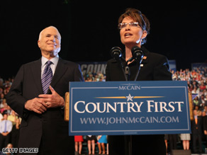 Gov. Palin gratefully accepted her new role Friday.