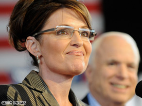McCain is keeping Palin on the campaign trail with him longer than expected.