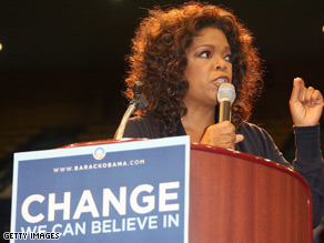 Oprah Winfrey campaigned for Obama in February.