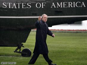 President Bush returned from Camp David Saturday.