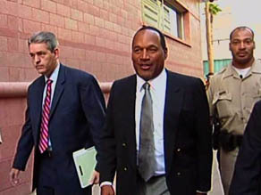 O.J. Simpson arrives for the first day of jury selection