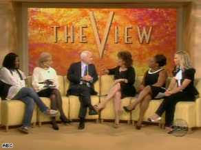 Sen. John McCain was a guest on 'The View' Friday.