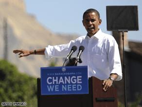 Obama campaigned in Colorado Monday.