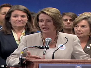 Speaker Pelosi fronted a press conference Wednesday of Democratic women from the House who are supporting Sen. Obama.
