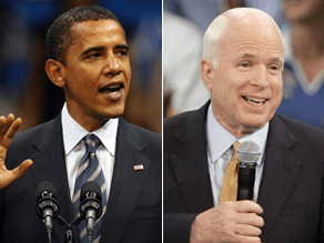 McCain and Obama are nearly tied in two key battleground states.