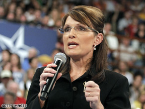 Palin accused 'Obama-Biden Democrats,' of attacking her family Monday.