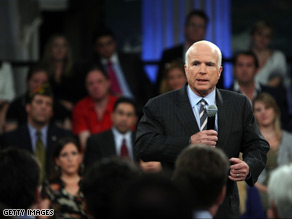Sen. John McCain defended his decision to suspend his campaign Monday.