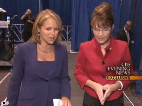 Palin told CBS' Katie Couric she represents 'new energy.'