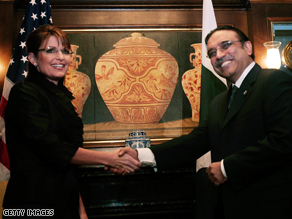 Sarah Palin met with Pakistan President Asif Ali Zardari last week during the UNGA.