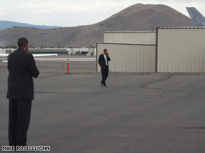 Obama spent Monday evening in Reno working the phones.