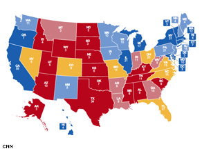 Obama makes major gains on the new CNN Electoral Map.