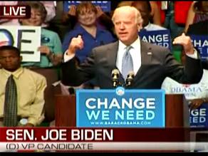 Biden stumped in Tampa.