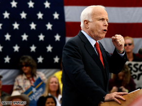McCain slammed Obama over Biden's Sunday comments.