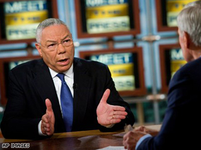 Colin Powell introduced Sen. Barack Obama on Sunday on NBC's 'Meet the Press.'