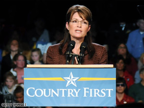 Palin apologized Tuesday for making the 'pro-America areas' comment.