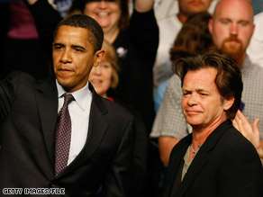 John Mellencamp joined Sen. Obama at an Indiana campaign event in April.
