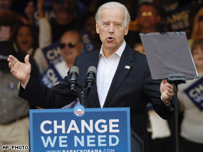 Biden questioned the McCain campaign's likening of Obama to President Bush.