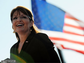 Gov. Palin said Saturday that Sen. Obama has a big government agenda.